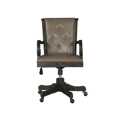 Magnussen Home Bellamy Wood Uph Swivel Chair