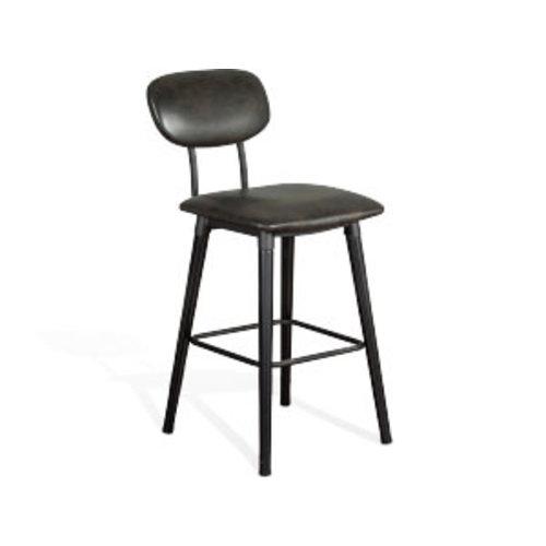 "Sunny Designs Carter 30"" Black Barstool"