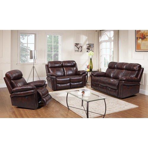 Leather Italia USA Joplin Power Reclining Sofa