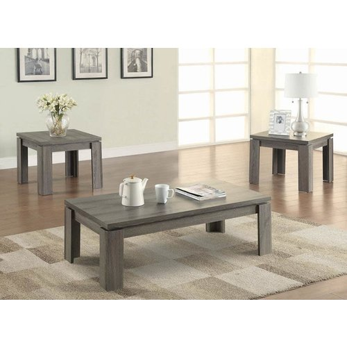 Coaster Weather Grey 3pc Occasional Set