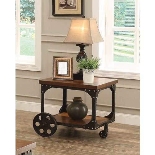 Coaster Rustic Brown End Table