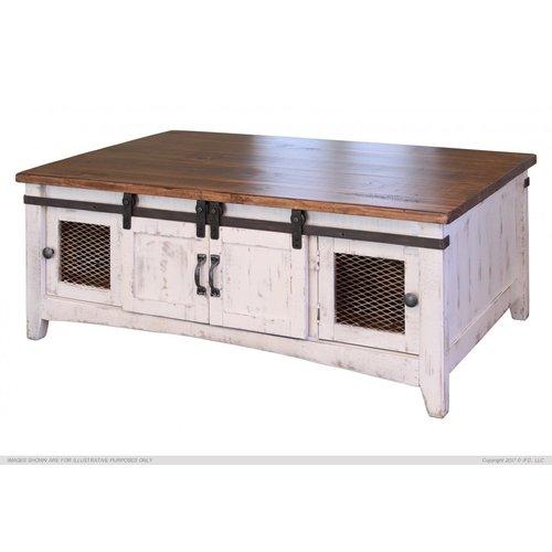 IFD Pueblo White Coffee Table