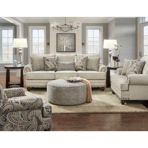 Fusion Furniture Capernicus Cobblestone Ottoman