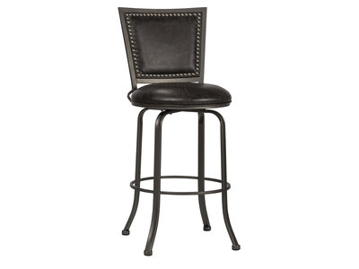 Hillsdale Belle Grove Commercial Grade Swivel Counter Stool - Charcoal