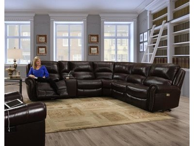 Behold Home Waverly Mahogany 6PC Power^2 Sectional