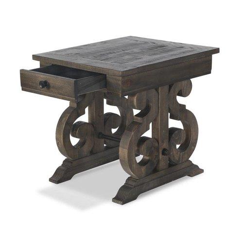 Magnussen Home Bellamy Rectangular End Table (Peppercorn)