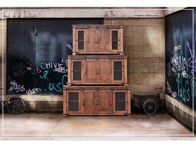 "IFD Parota 60"" Tv Stand w/ 4 Doors & Shelves"