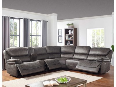 Steve Silver Co. Plaza 6-Piece Power Reclining Sectional