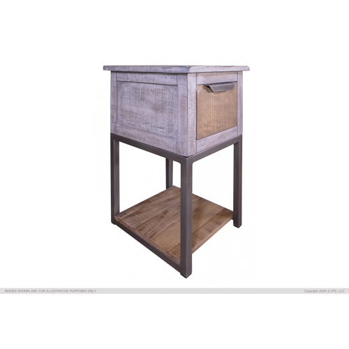 IFD Mita 1 Drawer Chairside Table