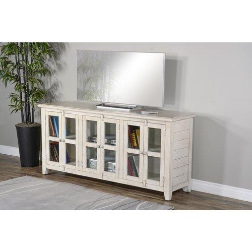 """Sunny Designs 70"""" TV Console (White)"""