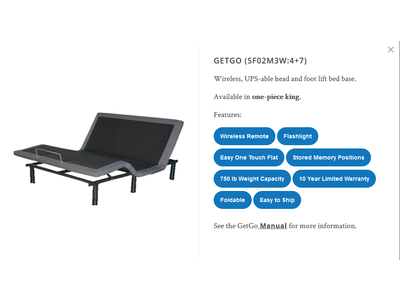 Innova Dream Systems Innova GetGo Adjustable Base