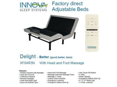 Innova Dream Systems Delight II Adjustable Base Twin XL