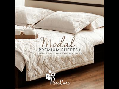 PureCare Modal Queen Sheets (Gray)