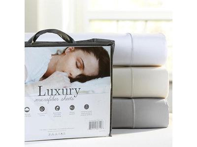 PureCare Luxury Microfiber Queen Sheets (White)