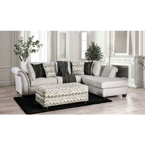 Furniture of America Pasquale Sectional w/ Chaise