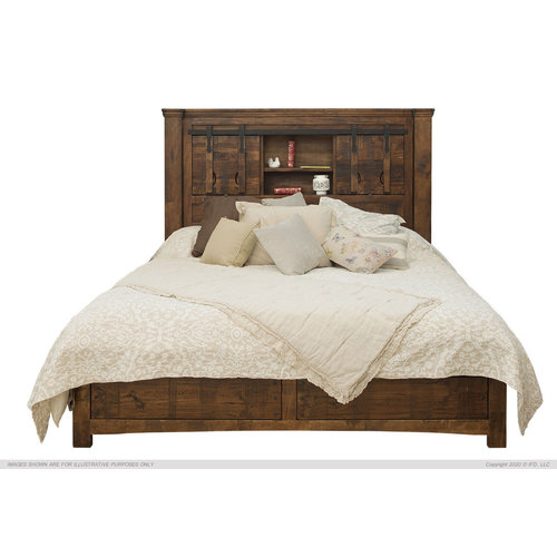 IFD Mezcal Queen Bed w/ Storage Headboard