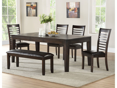 Steve Silver Co. Ally 6 PC Table and Bench Set
