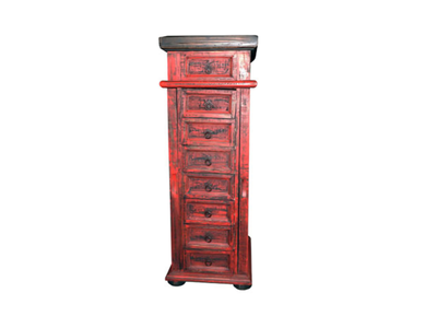 C4 Rustic Red Jewelry Chest
