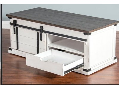 Sunny Designs Barn Door Coffee Table
