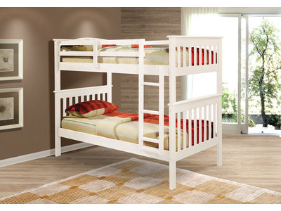 Donco Kids Mission Twin/Twin BunkBed (White)