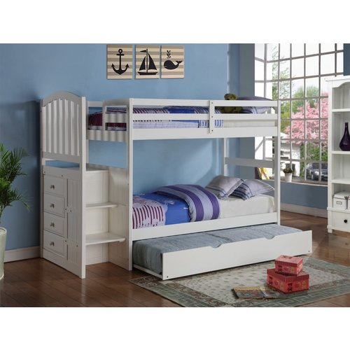 Donco Kids T/T Arch Mission Stairway Bunkbed