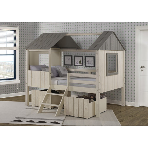 Donco Kids Rustic Sand Dual Loft Drawers (Set of Two)