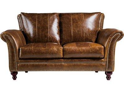 Leather Italia USA 2239 Butler Loveseat- Brown