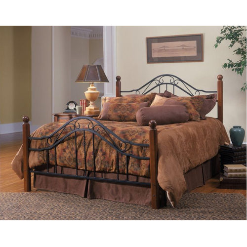 Hillsdale Complete Madison Queen Metal Bed (Textured Black)