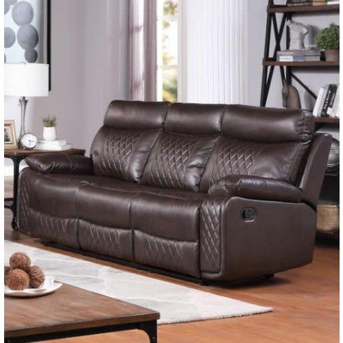 Homelegance Watson Brown Reclining Sofa