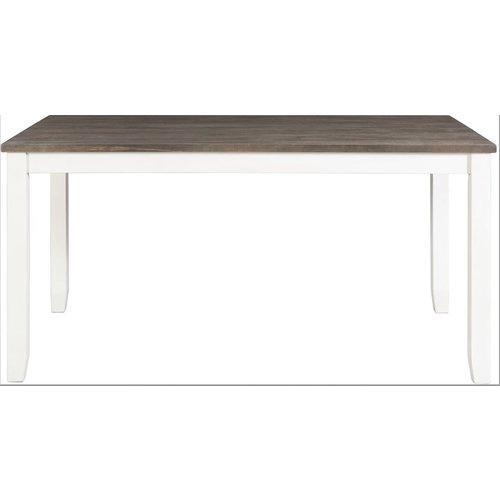 Elements Martin - Dark/Brown Top White Base - Dining (5 Piece Set)