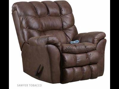 Lane Sawyer Rocker Recliner W/Heat And Massage Tobacco
