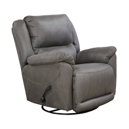 Catnapper Cole Chaise Swivel Glider Recliner Charcoal