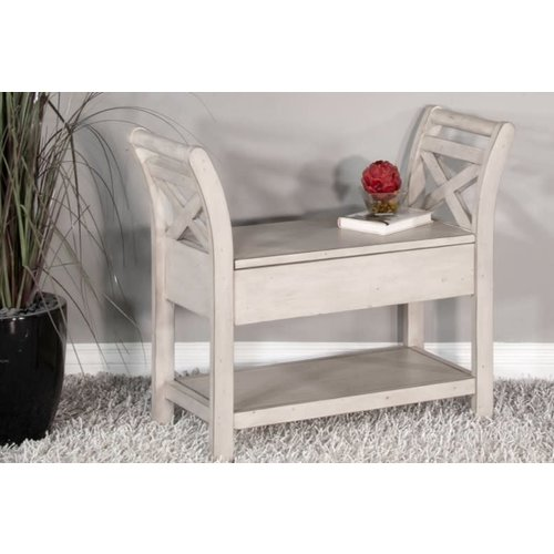 Sunny Designs Accent Bench w/ Storage, Wood Seat