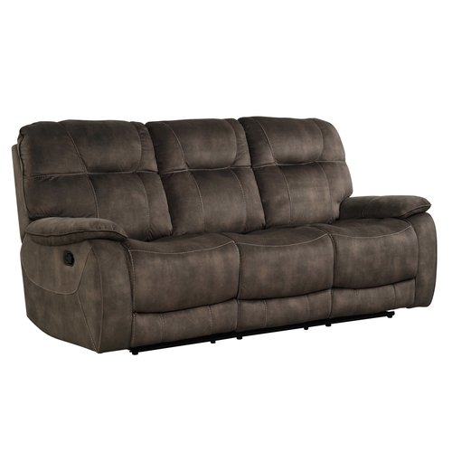 Parker House Cooper Shadow Brown Manual Triple Reclining Sofa