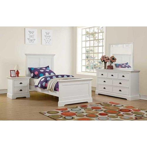 Winner's Tamarack White Full Panel Bed