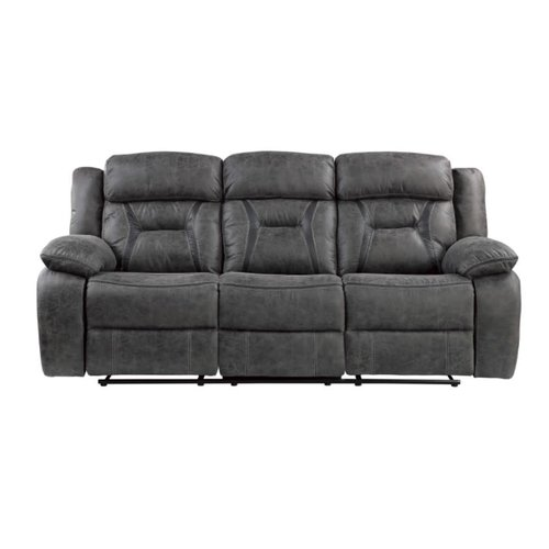 Homelegance Moriarty Double Reclining Sofa (Dark Gray)