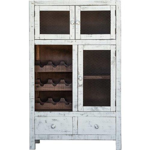 Aaron Wine Cabinet 2 DRW 3 Door
