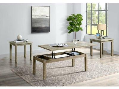 Elements Oak Lawn 3PC Set w/ Lift Top Coffee Table