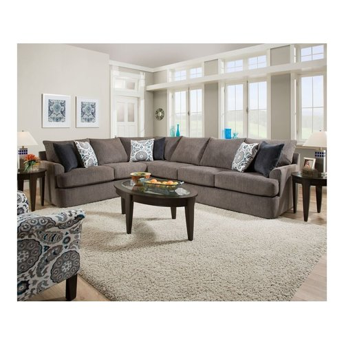 Lane Grand Stand Flannel 2PC Sectional