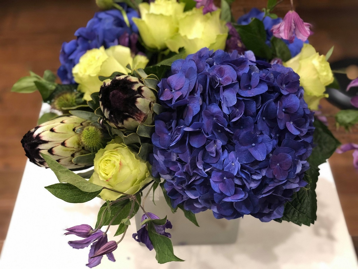3 Ways We Designed Bouquets using Electric Blue Hydrangea