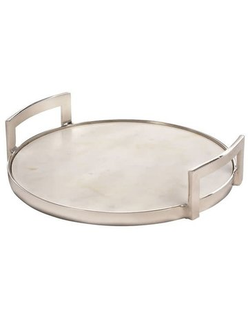 Marble Serving Tray, Round 12""