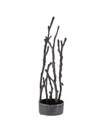 Sculptural Branch Vase, Nickel, Round
