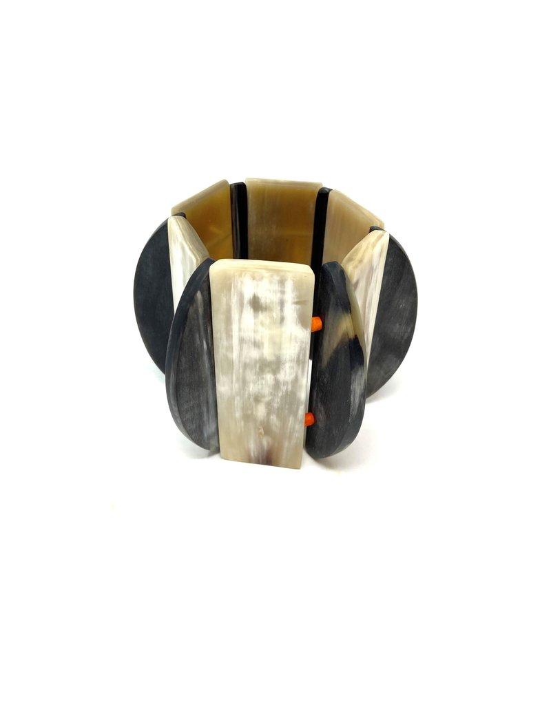 CATHS Beige & Grey Horn Bracelet