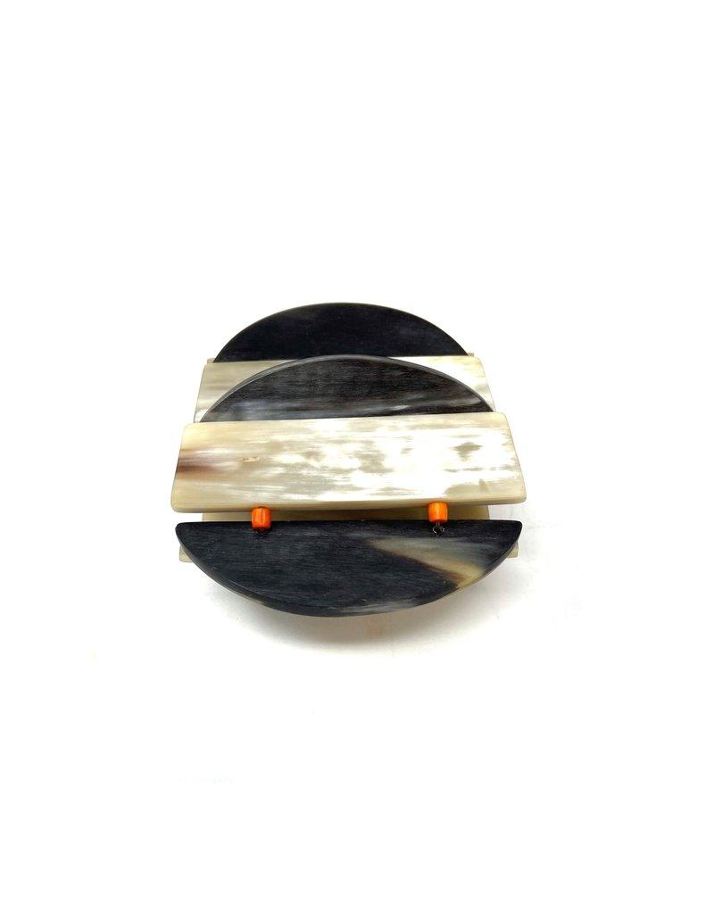 Beige & Grey Horn Bracelet