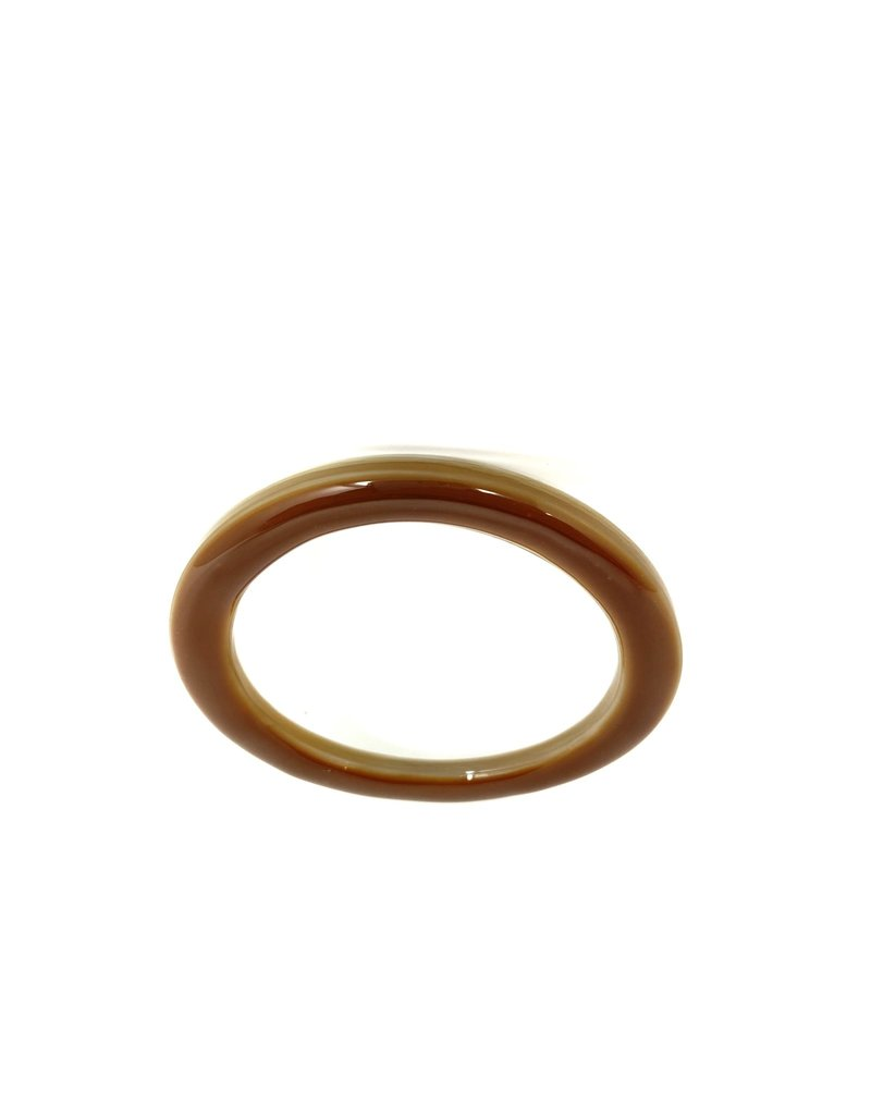Horn + Resin Bracelet, Brown