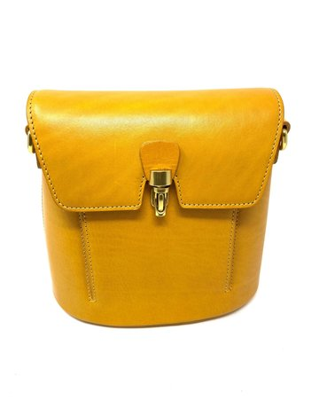 Crossbody Leather Bag, Lemon