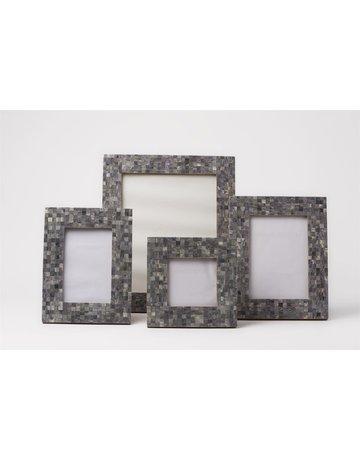 Handmade Mosaic Frame, Grey, 4 x 6