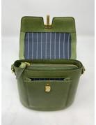 Crossbody Leather Bag, Tea Green