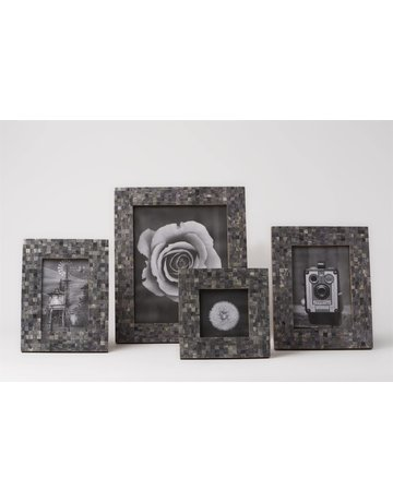 Handmade Mosaic Frame, Grey, 5 x 7