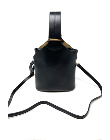 Moeko Vegan Crossbody Bag, Black